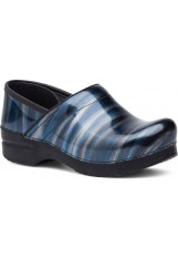 Dansko – Professional - Silver / Blue Stripe Patent Leather