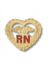 Registered Nurse Heart Pin