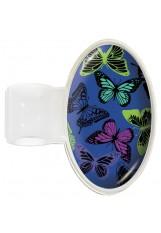 Prestige – S8 - Printed Stethoscope ID Tag - Butterflies Navy